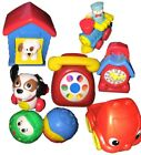 Vintage Fisher Price Happy Meal Prize Lot Of 8  Phone Truck House Dog Balls Toys
