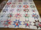 ANTIQUE HAND STITCHED AND QUILTED QUILT--88