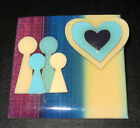 Vintage 1980s LUCINDA Original People Pin Family Hearts Handcrafted Art Maine