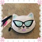 NWT Luv Betsey Cool Cat Wristlet Blush Pink Silver Suglasses