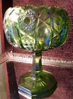 Vintage L.E.Smith Glass Heritage Collection Cupped Footed Compote