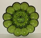 Anchor Hocking Fairfield Green Deviled Egg Plate