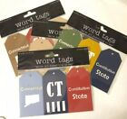 CONNECTICUT Word Tags Laser Die Cuts6pcDeluxe Cuts Constitution StateNutmeg