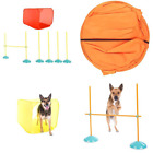 Agility Dog Training Indoor Kit Training Equipment Tunnel Weave Poles Course NEW