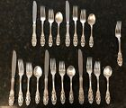 Towle Grand Duchess (1973) Sterling Silver Flatware 4pcs/Setting For 5 - 21pcs