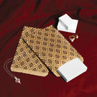 LOT OF 100 PAPER GIFT BAGS  JEWELRY BAGS GIFT POUCH DAMASK PRINT AND 2 SIZES
