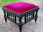 Victorian Antique Aesthetic footstool ottoman foot rest bench