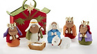 Felt Nativity Set In Bag Three Wise Men Figures Baby Jesus Birth Holy Night