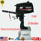 7HP 2Stroke Outboard Motor Tiller Shaft Fishing Boat Engine Water Cooling System