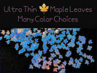 MAPLE LEAF ULTRA THIN Shape You Choose Color Nail ArtFaceFestivalCrafts