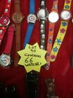 joblot watches spares or repair lot90contains 66 watches