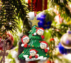 Personalized Christmas Tree Ornament Holiday Gift Tree for Family of 2 3 4 5
