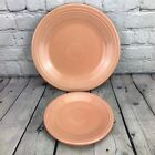 Fiesta Apricot Dinner Plate & Luncheon Plate Fiestaware Retired Color Peach Set