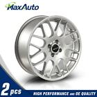 2 Pcs 17X7 4X100 731 +42mm Offset For 2003 Mini Cooper Silver Wheels Rims
