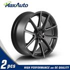 2 x Matt Black Milling spoke Surface 20x85 5x108 +35mm Wheels Rims for BMW X5