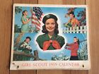Vintage Girl Scout Calendar 1959 Complete January 59' To December 59' Wall