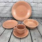 Fiesta Apricot 5 Piece Place Setting Fiestaware Peach Retired Plates Bowl