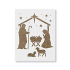 Nativity Manger Stencil Durable  Reusable Mylar Stencils
