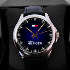 tommy hilfiger accessories analogue leather band watch