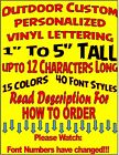Personalized Vinyl Sticker Decal Outdoor Car Window 129  UP