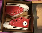 infants toddler Converse All Star red canvas high top casual sneakers sz 2