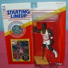1991 DOMINIQUE WILKINS Atlanta Hawks - FREE s/h- high fly Starting Lineup + coin