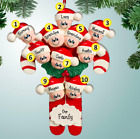 PERSONALIZED Candy Cane Family of 2 3 4 5 6 7 8 9 10 Grandkid Christmas Ornament