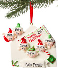 NAME PERSONALIZED Merry Christmas Letter Family of 2 3 4 5 Tree Ornament Gift