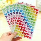 6 Sheets Star Heart Circle Shape Stickers Bookmark Scrapbook Sticky Notes