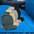 HN 4pc Front 2 Low Back Bucket Seat Cover Automotive Grade Thick Triple Stitched