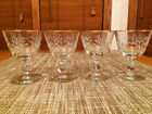 Set of 4 Libbey Lily of the Valley Cordial Liquor Glasses_White