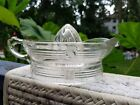 Hazel Atlas Criss Cross Depression Glass Citrus Juicer Reamer Lemon Orange