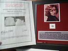 GRETTA GARBO 10x13 display WORN SWATCH i want to be alone!! BRSZ 2 COA (s)
