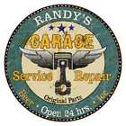 RANDYS Garage Round Metal Sign Man Cave Home Wall Dcor 100140027219