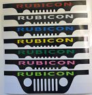 Jeep Wrangler Windshield Decals Rubicon Colors Grill And Corner