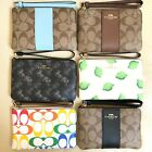 NEW Coach Small Corner Zip Wallet Wristlet Various Colors F58032 F58035 F21070