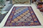 Vintage Afghan Kilim Area Rug 9'8 x 6'7 Hand-Woven Carpet with free gift #4130