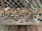 27+ lbs. Antique Casters / Wheels Factory Industrial Steampunk Metal Wood Rubber