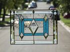 •SKY • -Beveled Stained Glass Window Panel • 19 1/4