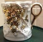 White and Gold Victorian Decorative Cup