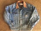 Carhartt Jean Jacket Size XL Mens Blue Denim Trucker Flannel Lined USA Made