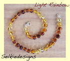 EXCLUSIVE BALTIC AMBER NECKLACE LIGHT RAINBOW Jewellery Beads FREE POST
