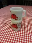Vintage Fire King Hildi Milk Glass Mug Lady Bug Anchor Hocking 2 Each
