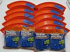 HOT WHEELS 50 Curved Turn Tracks Blue Connector 7 New Builders Track