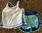 Reebok Girls 3T Outfit (shorts And Sleeveless Top) Rital Blue, Pink, White