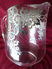 Large Crystal Pitcher with  Sterling Silver Floral Overlay