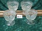 4 ANCHOR HOCKING WEXFORD CHAMPAGNE/SHERBET GLASS DISHES