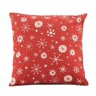 Xmas Decoration Cushion Cover Sofa Waist Bed Throw flax Pillow Case, Red (Sno T5