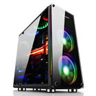 Clear Side Gaming Computer PC Case Liquid Cooling Desktop Micro ATX ITX Black
