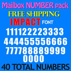 Mailbox NUMBER Decals IMPACT ALL SIZES 1 2 to 5 FREE SHIP STICKERS